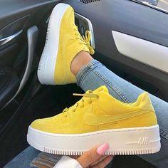 nike air force 1 femme signe jaune