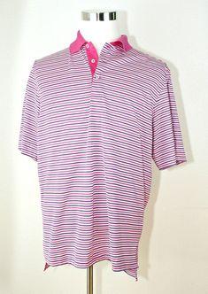 Men/'s Pelle Pelle WhitePink Long Sleeve Button Down Shirt