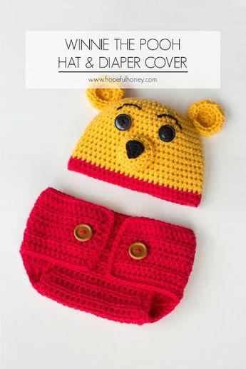 85691e5e342 Winnie The Pooh Inspired Hat   Diaper Cover - Free Crochet Pattern