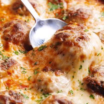 Chicken Parm Meatball Skillet
