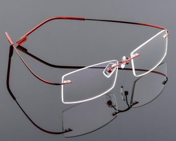 ecc8f06473 New ultra-light rimless Optical frame men women Titanium Alloy eyeglasses  frame Myopia Prescription glasses