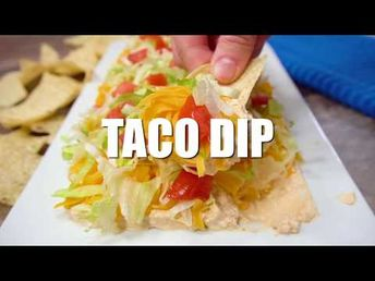One of my favorite appetizers of all time, this taco dip served with tortilla chips is easy to make and sure to be a crowd pleaser.