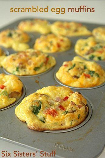 Scrambled Egg Breakfast Muffins