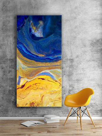 Large Abstract Resin Art Painting Giclee Print Extra Large Wall Art Oversize Loft Style Home Decor Modern Art Space Fantasy Made to Order