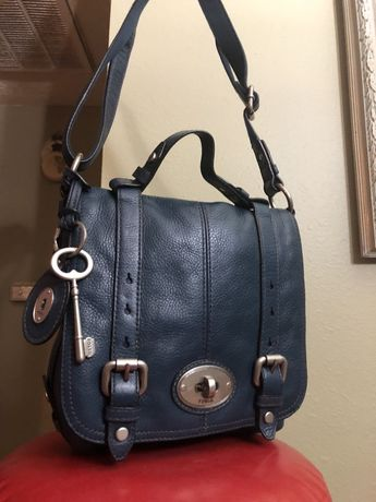 6d8b638ad4 FOSSIL MADDOX SATCHEL VINTAGE LONG LIVE FOSSIL SHOULDER BAG TEAL BLUE EUC  HTF  fashion
