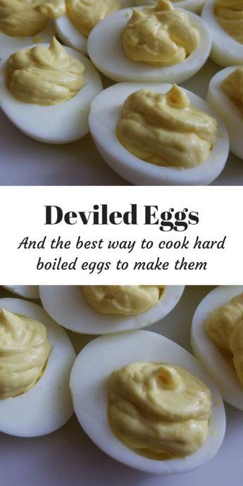 Deviled Eggs (and the best way to cook hard boiled eggs to make them