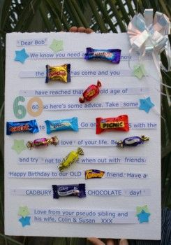 Best Gift For Dad 60th Birthday Ideas Candy Bar Card Made One Of These A Long Time Ago Should Definitely Try