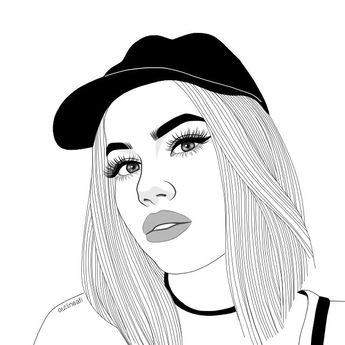 Digital Art Outlines Tumblr Outlines Tumblr Girl Outli