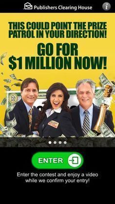 Image result for PCH 10 Million Sweepstakes Entry
