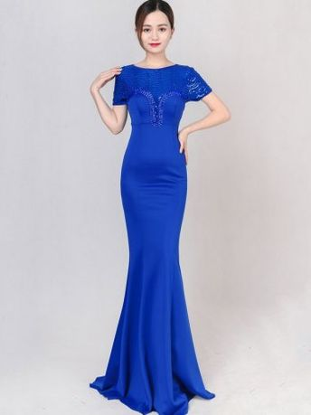 Flash Sale Velvet Sequined V-Neck Sheath Backless Dresses
