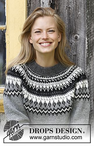 512bc4134c6ab 181-16 a Winter Berries Jumper pattern by DROPS design