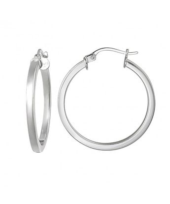 d4b2634bf Sterling Silver 2mm High Polished Square Small Hoop Earrings CH12CLAMI7F
