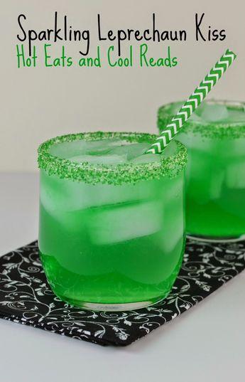 Sparkling Leprechaun Kiss Drink Recipe or Sparkling Grinch Cocktail Recipe