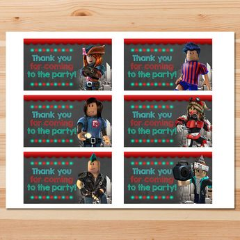 Roblox Birthday Party Tags