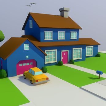 3D lowpoly sandy patio model  Lowpoly 3D model  #3D #3DMode