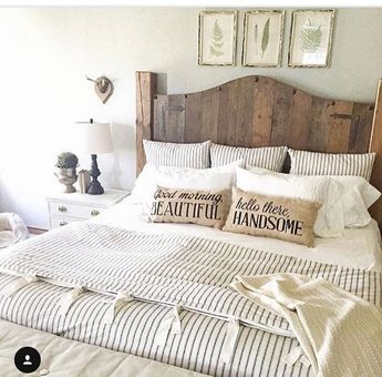 Country gray bedroom