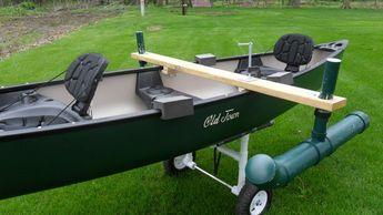 My Fishing Canoe Setup with Trolling Motor Mount - YouTube