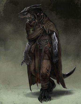 [Art] Kanarak, Dragonborn Warlock, Wanderer and Druid Enthusiast : DnD