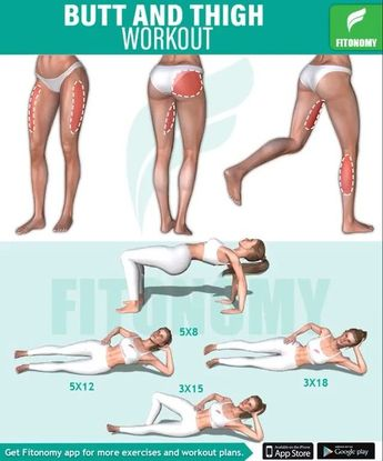 Sunday Butt and Thigh Workout with Fitonomy Install the app now, click the link in @downloadfitonomy 's bio