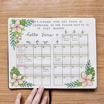 33 tropical inspired bullet journal spreads