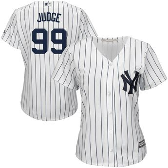 dc19e1135 Aaron Judge New York Yankees Majestic Women s Home Cool Base Player Jersey  - White