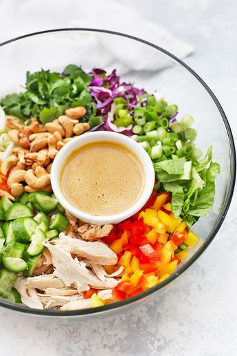 Thai Chopped Salad with Peanut Drizzle