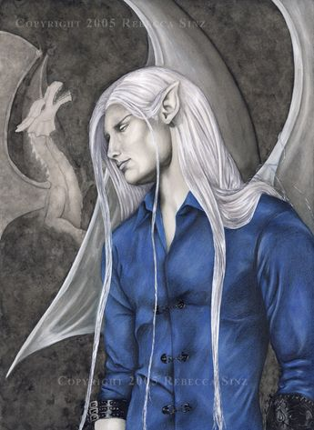 So I know they don't have the pointed ears or wings in their human form, but still pinning this here as reference to ice dragon shapeshifters