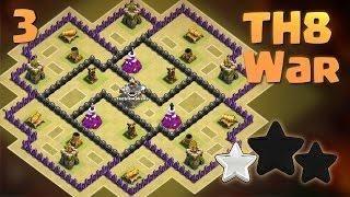 Town Hall 8 (TH8) War Base 2018 | Anti 3 Star / Anti Every