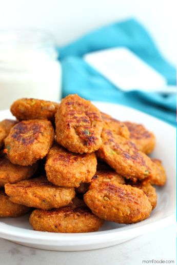 These Paleo Chicken Nuggets may just be a toddler mom's best friend. The recipe is Paleo, Whole 30, gluten-free, dairy-free and grain-free. It is perfect for fussy toddlers and a great way to sneak veggies