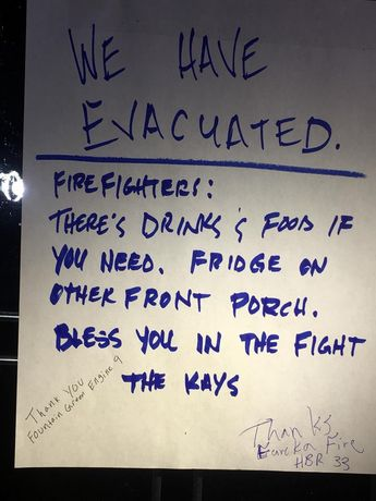 Evacuated Family Leaves Food And Drinks For Utah Firefighters
