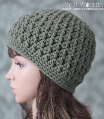 0e3577b06a2 Crochet PATTERN - Textured Crochet Hat Pattern - Beanie