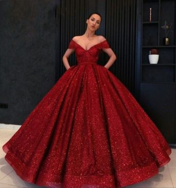 Off the Shoulder Burgundy High Quality Ball Gown,Amazing Burgundy Sequin Prom Gown, Formal Dress ,Sexy Formal Evening Dress,Custom Made from Beauty Angel2176