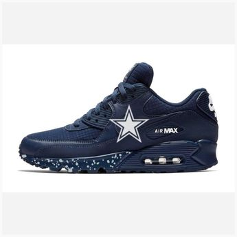597a81fd207307 Bandana Fever Dallas Cowboys Big Print Custom Navy Nike Air Max Shoes