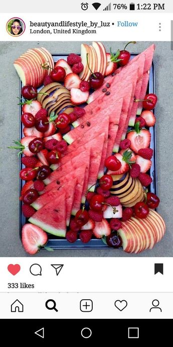 And what goes better with a cheese tray....but a fruit tray!