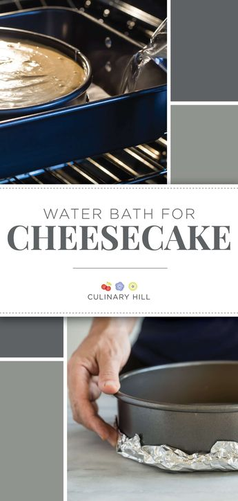 Your search for the silkiest, most perfect cheesecake recipe is over; when you use a water bath for cheesecake, all your favorite cheesecake recipes will sparkle and impress like never before. via @culinaryhill