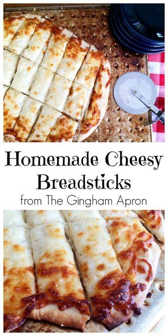 Homemade Cheesy Breadsticks