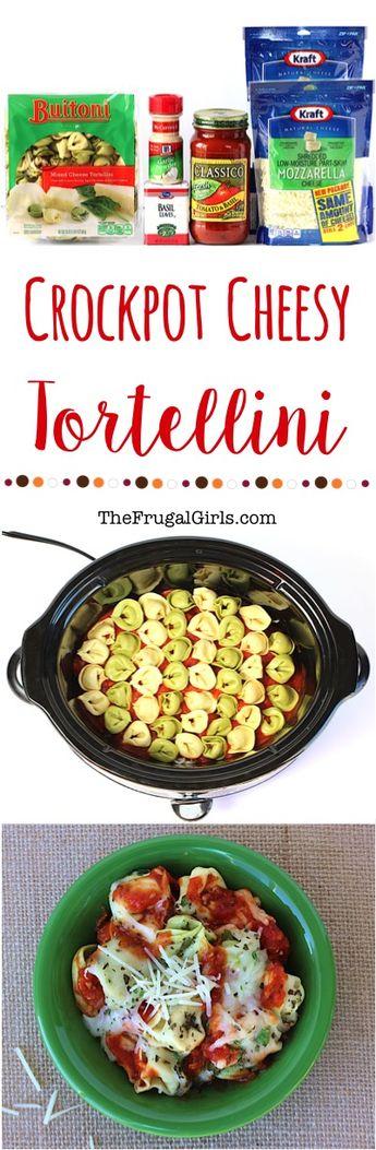 Crockpot Cheesy Tortellini Recipe (The Frugal Girls)