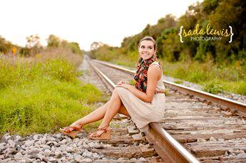 senior pictures on railroad tracks | Amy | {San Antonio & Gruene, TX Senior Portraits} » Sada Lewis ...