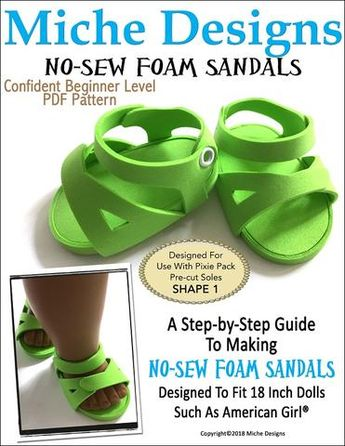 ba1862631 No-Sew Foam Boardwalk Sandals 3 Pack 18
