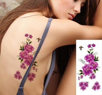 043282751 Flower Designs Waterproof Temporary Tattoo Stickers 27 Designs Amazing  Colors Selection Beautiful Flowers