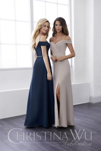 64f0d0c709d French Novelty  frenchnovelty · Christina Wu 22825 Off Shoulder Bridesmaid  Dress with Beading