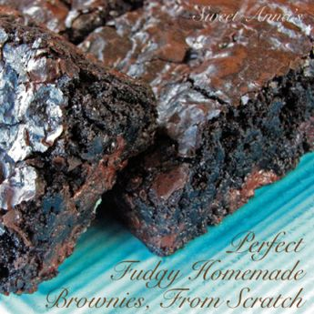 the best fudgy homemade brownies, from scratch