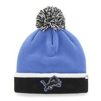 hot sale online 51e3a 4ccbc Detroit Lions Baraka Two Tone Cuff Knit Blue Raz 47 Brand Hat