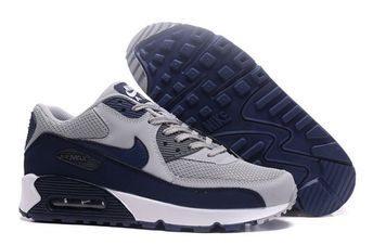 Mens Womens Nike Air Max 90 White Royal Blue Red Sneakers