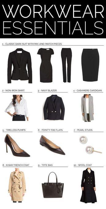 TOP 10 WORKWEAR ESSENTIALS // Workwear wardrobe guide for professional women {H
