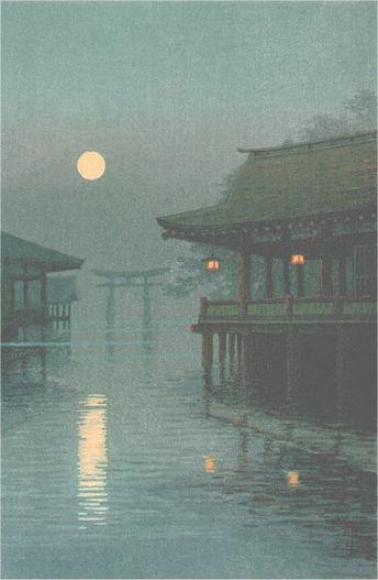 """yuhan ito - Misty Moon at Miyajima Кэнрэймонъин-но укё-но дайбу """"В горном жилище..."""""""