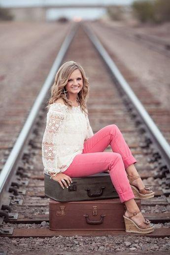 Senior Portrait / Photo / Picture Idea - Girls - Railroad Tracks