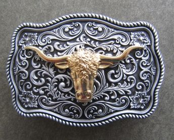 Rose Hearts Floral Belt Buckle Crumrine Western Country Ind