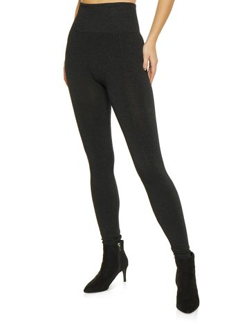 84828b1778467 French Terry Lined Leggings - Black - Size M
