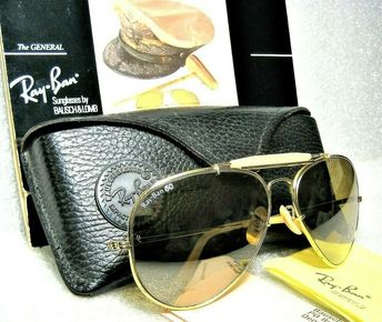 6230bffdbc Details about Ray-Ban USA Vintage B L Aviator The General RB-50 1st Edition
